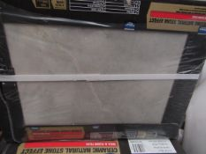 6x Packs of 8, Wickes 400x300 Onyx Gloss Wall and Floor tiles, each pack is RRP £16.99 totalling