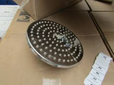 Aqualisa XL Techno 200mm over head shower head, new and boxed, RRP £250 Aqualisa describe this