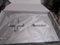Roca PL6 dual combi flush plate, new and boxed.