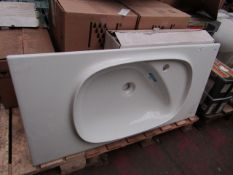 Roca Beyond 1010mm 1TH basin with no overflow, unused
