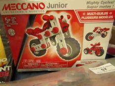 Meccano Junior - Super Motos 5+ - Unused & Boxed.
