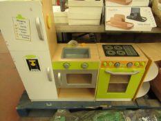 Wooden Kids Kitchen. 140cm Wide. Just needs a clean.