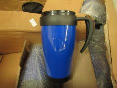 2 x Travel cups in Blue. New