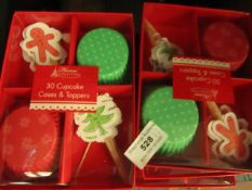 12 x 30 Cupcake Cases & Toppers. New & Packaged