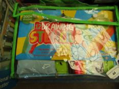12 Drawing Stencils - Colouring Set - Packaged.