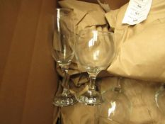 Box of Approx 10 Wine Glasses - All Unused & Boxed.