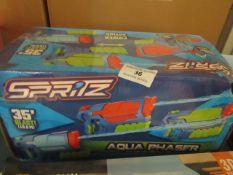 Spritz - Aqua Phaser Water Gun - Unused & Boxed.
