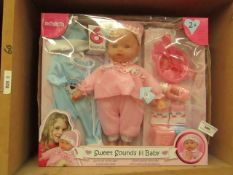 Molly Dolly Sweet Sounds lil baby with Accessories. Boxed