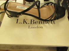 L.K Bennett - Newport Black Nappa Leather - Size 40 - New & Boxed. RRP £195.