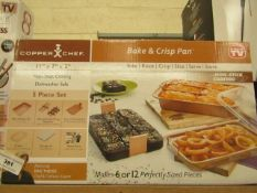 | 1x | COPPER CHEF BAKE AND CRISPN PAN | UNTESTED AND BOXED | no online re-sale | SKU - | RRP- |
