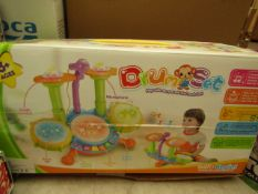 DrumSet - Children's Toy Drum Set 3+ - Unchecked & Boxed.