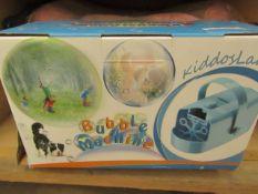 Kiddosland Bubble Machine. Boxed but untested