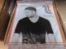 | 48x | TONE TEE V NECK COMPRESSION T-SHIRT BLACK XL | PACKAGED & BOXED | SKU 1508038582739 | RRP £