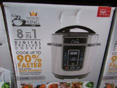 | 4X | PRESSURE KING PRO 8 IN 1 3LTR PRESSURE COOKER | UNCHECKED AND BOXED | NO ONLINE RESALE |