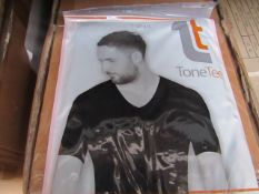| 48x | TONE TEE V NECK COMPRESSION T- SHIRT BLACK 3XL | PACKAGED & BOXED | SKU 1508038582739 |