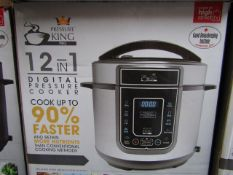| 4X | PRESSURE KING PRO 12 IN 1 5LTR PRESSURE COOKER | UNCHECKED AND BOXED SOME MAY BE IN NON