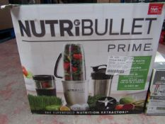 | 1X | NUTRIBULLET PRIME | UNCHECKED AND BOXED | NO ONLINE RESALE | SKU - | RRP £79.99 | TOTAL