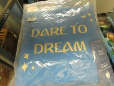5 x 'Dare To Dream' Cushions. New & Packaged