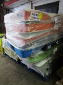 | 1X | PALLET OF APPROX 6 SINGLE MATTRESSES AND WHAT LOOKS TO BE A FOLD AWAY BED | UNCHECKED |