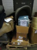 Pallet of Various Beyond Economical repair furniture and furniture parts, all customer returns in