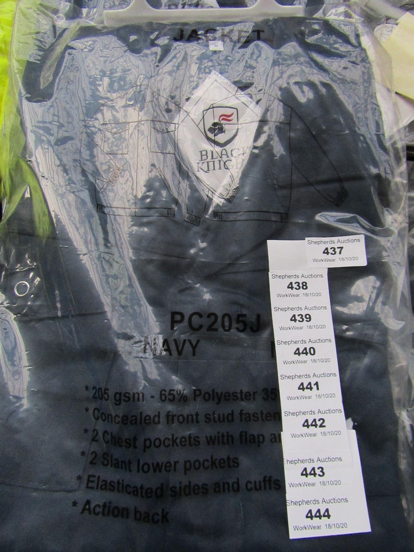 Lot 437 - Black Knight - Navy Jacket - Size Medium - Unused & Packaged.