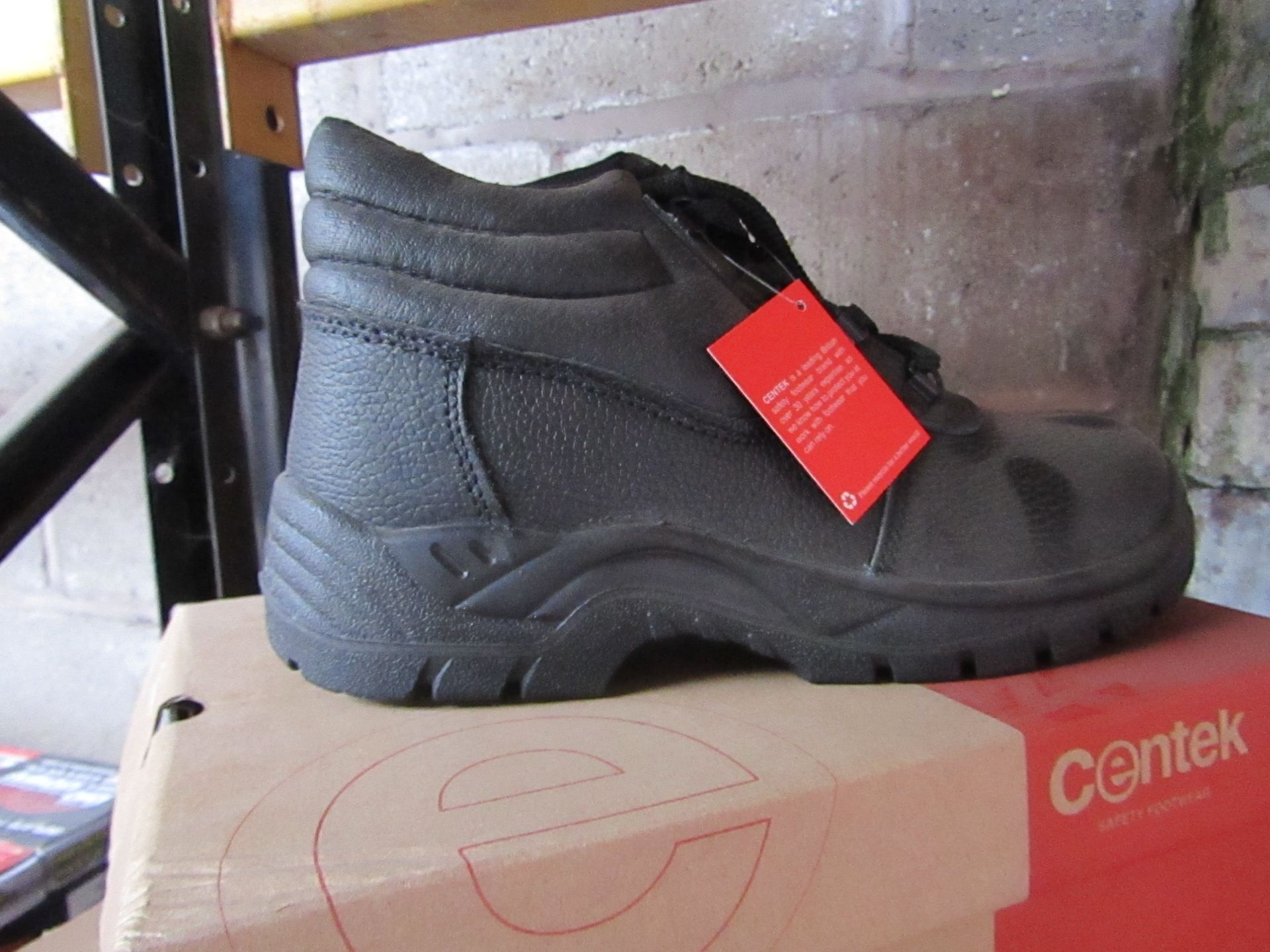 Lot 80 - Centek - Black Steel Toe Cap Boot - Size 9 - New & Boxed.