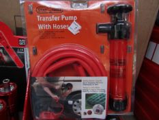 StagTools - Transfer Pump With Hoses - New & Packaged.