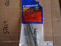 12x Rawl Plug - Loose Rawlbolt Brickwork Fixing (14mm) (Pack of 2 with Free 14mm Drill Bit) -