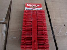 4x Fischer - Plastic Wallplugs (Packs of 100) - New & Packaged.