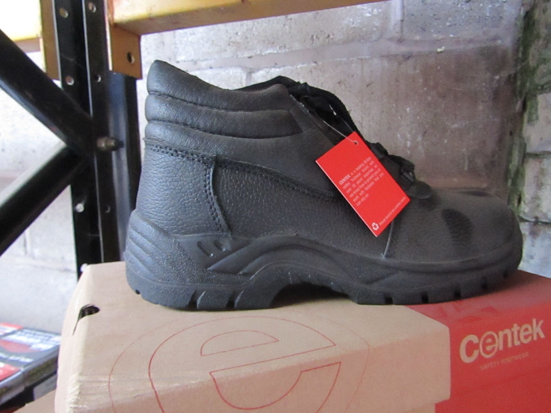 Lot 83 - Centek - Black Steel Toe Cap Boot - Size 9 - New & Boxed.