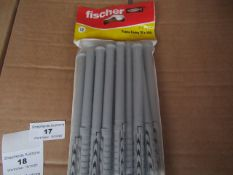 5x Fischer - Frame Fixing 8 x 140 (Packs of 12) - New & Packaged.