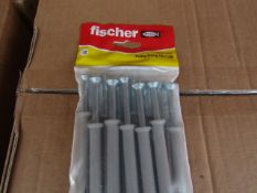5x Fischer - Frame Fixing 8 x 100 (Packs of 12) - New & Packaged.