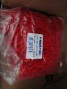 Fischer - Plastic Red Wallplugs (Pack of 1000) - New & Packaged.