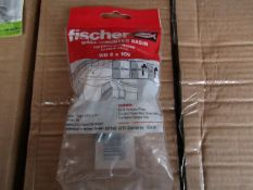 5x Fischer - Wall Mounted Basin Fixing WD 8 x 100 - New & Packaged.
