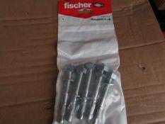 7x Fischer - Throughbolt 10 x 96 (Packs of 5) - New & Packaged.