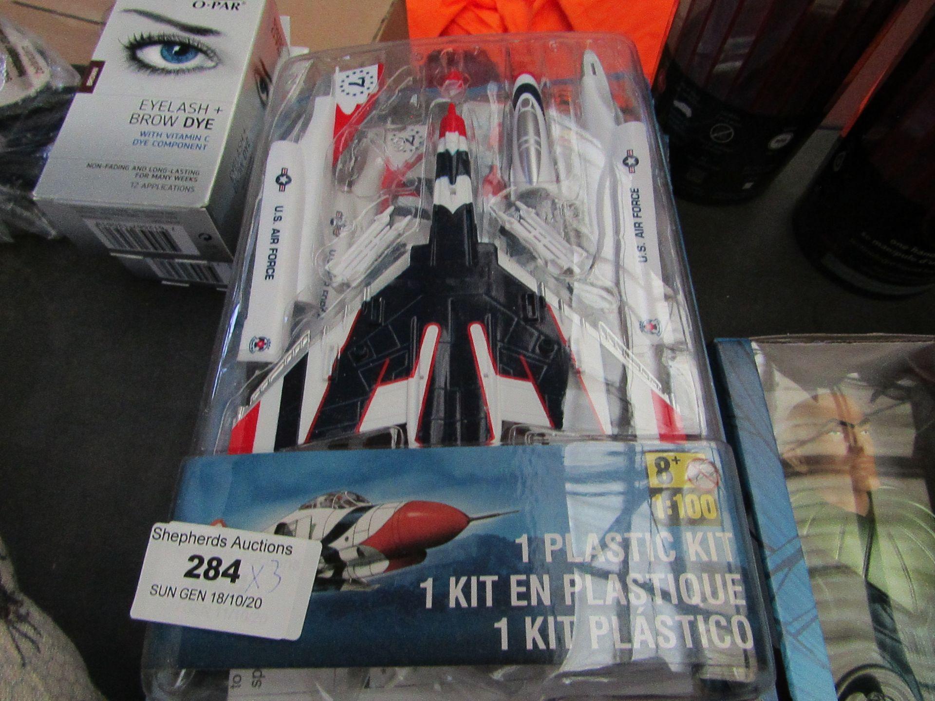 Lot 284 - 3 x Plastic plane Building Kits. Unused & Packaged