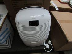 Ebac DI821WG-GB Dehumidifier. RRP £229. Powers on