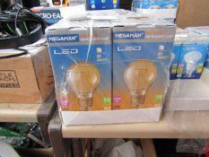 1x Megaman LED Filament bulb, new and boxed. 15,000Hrs / B22 / 210 Lumens