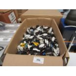 Large box containing over 100x various power, data transfer and co-axial components. All unchecked.