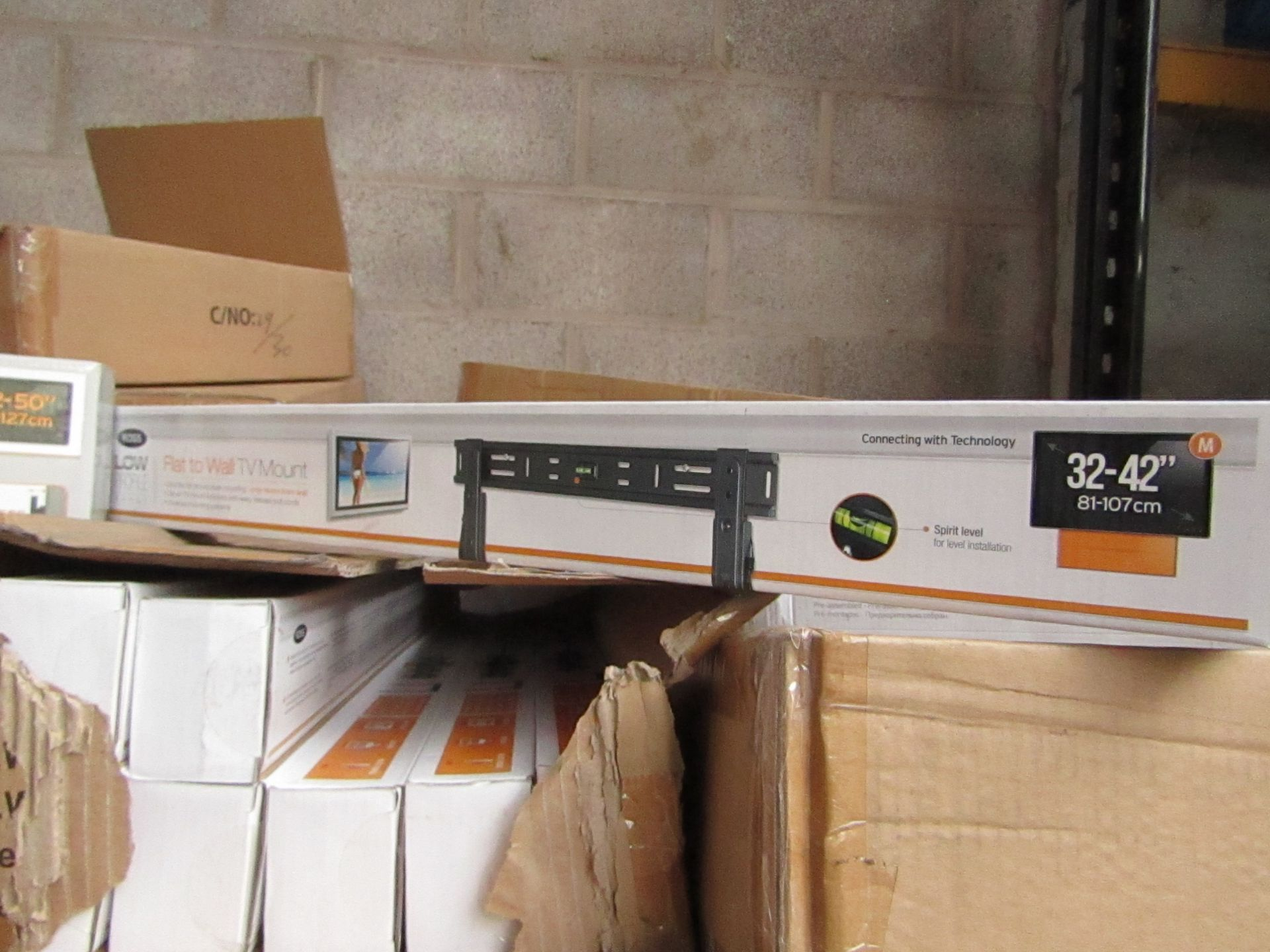 """Lot 195 - Ross - Flat To Wall TV Mount 32 - 42"""" - New & Boxed."""