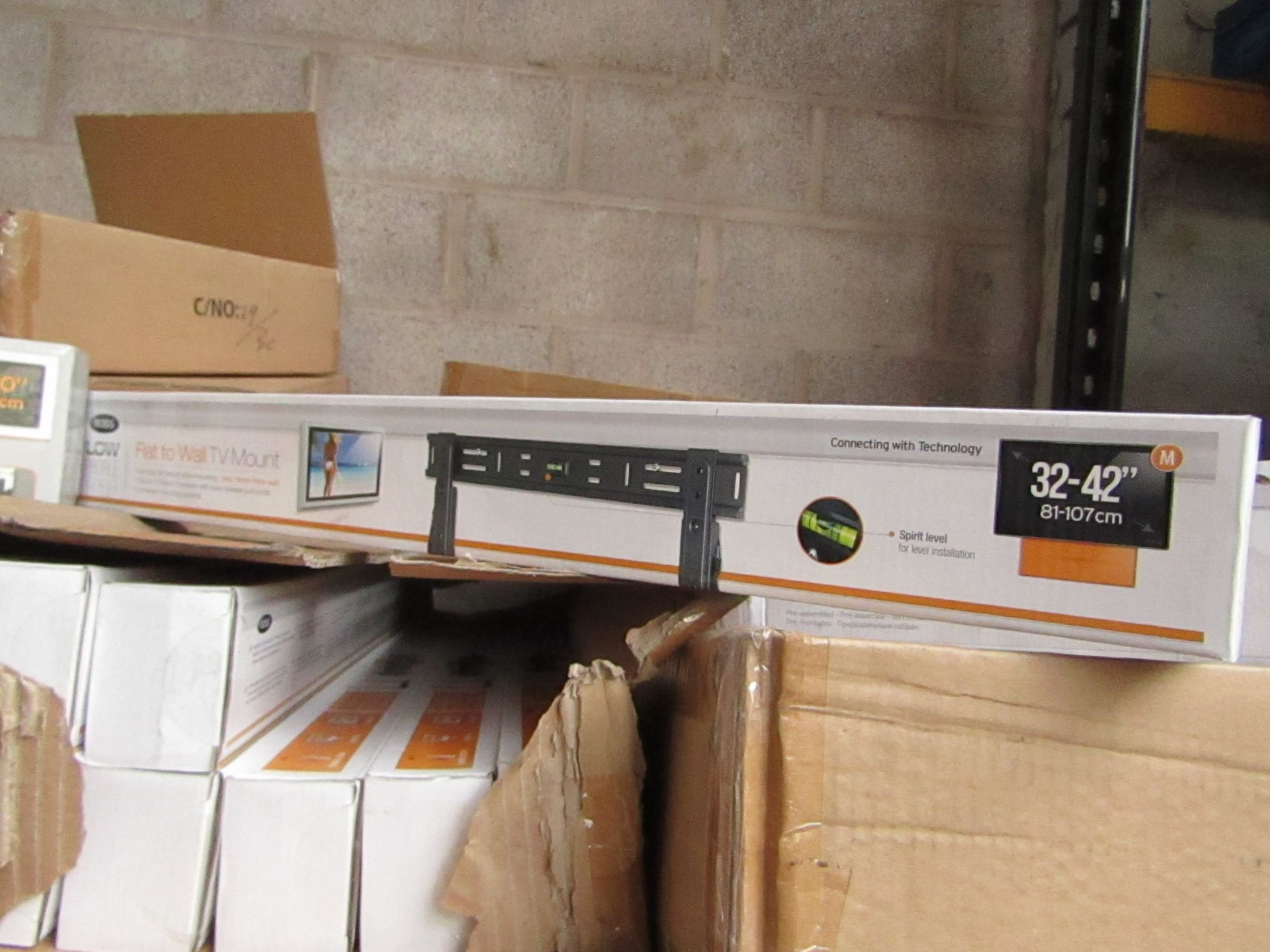 "Lot 190 - Ross - Flat To Wall TV Mount 32 - 42"" - New & Boxed."