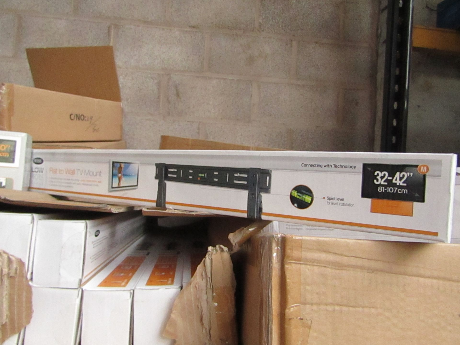 """Lot 191 - Ross - Flat To Wall TV Mount 32 - 42"""" - New & Boxed."""