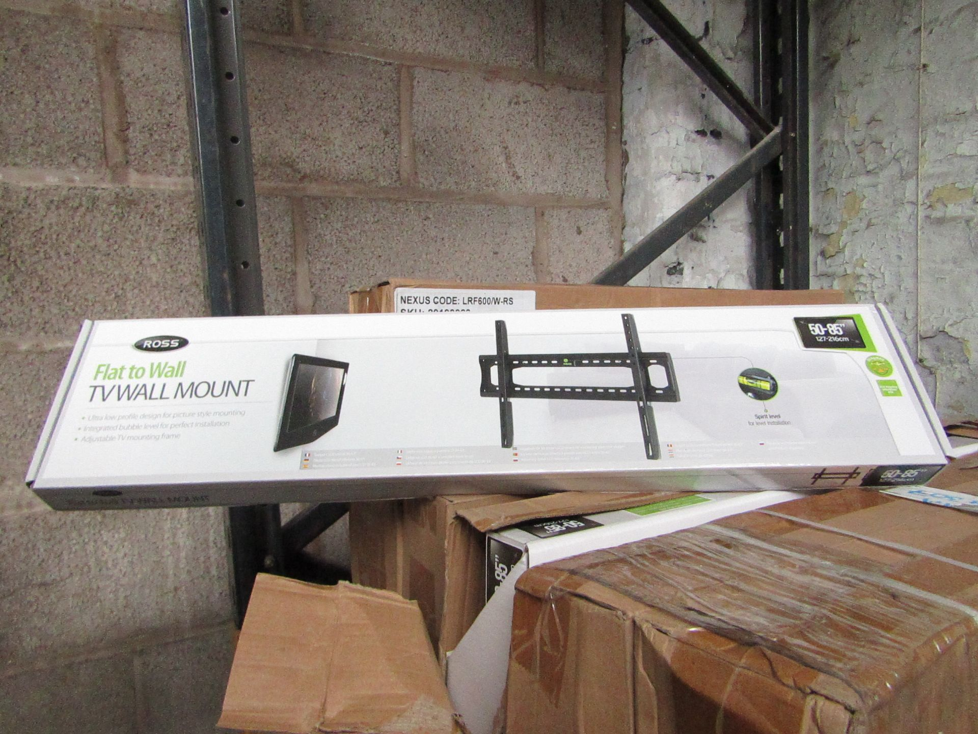 """Lot 177 - 2x Ross - Flat to Wall TV Mount 50 - 85"""" - New & Boxed."""