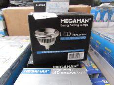 MegaMan Energy Saving LED Reflector Lamp, New and Boxed. 30,000 Hrs / GU10 / 500 Lumens