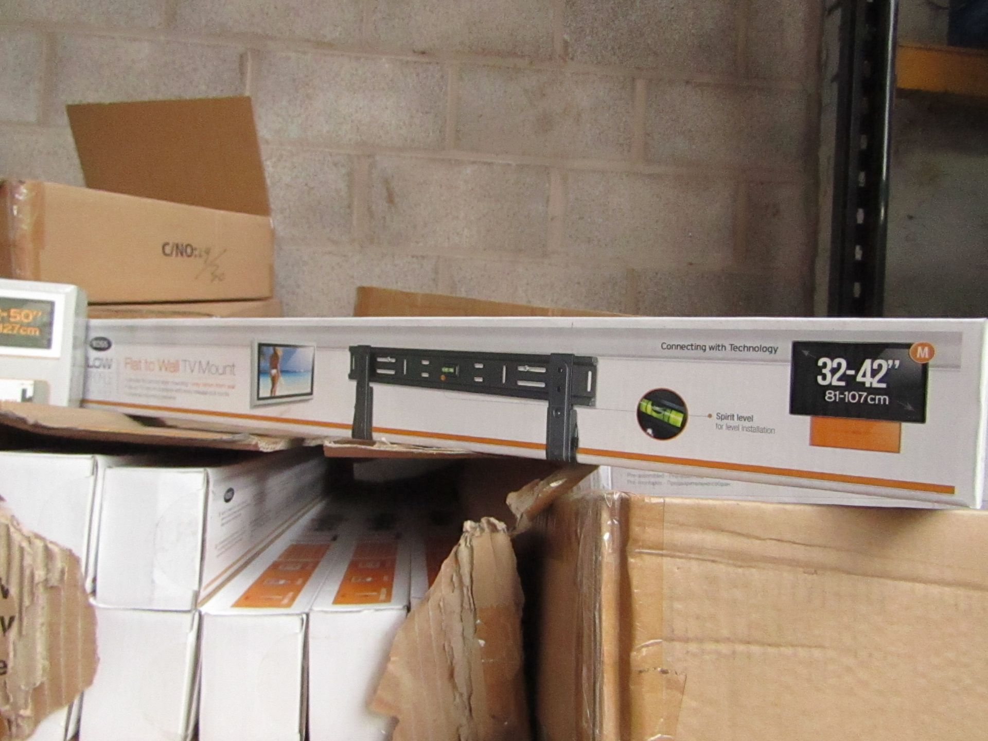 """Lot 194 - Ross - Flat To Wall TV Mount 32 - 42"""" - New & Boxed."""