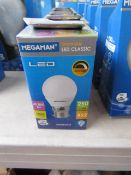 6x Megaman Dimmable LED Classic Bulb, New and Boxed. 25,000 Hrs / B22 / 250 Lumens