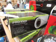 Pro-view anti vandal IP bullet camera, unchecked and boxed.