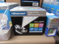 MegaMan Energy Saving LED Reflector Lamp, New and Boxed. 40,000 Hrs / G53 / 600 Lumens