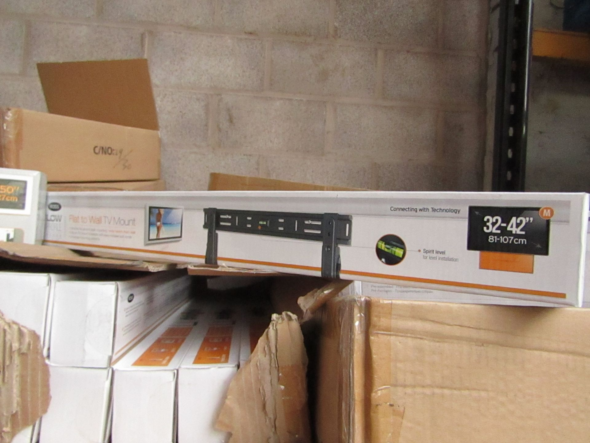 "Lot 192 - Ross - Flat To Wall TV Mount 32 - 42"" - New & Boxed."