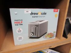 | 1X | DREW AND COLE 2 SLICE TOASTER | UNCHECKED AND BOXED | NO ONLINE RESALE | SKU - | RRP £49.99 |